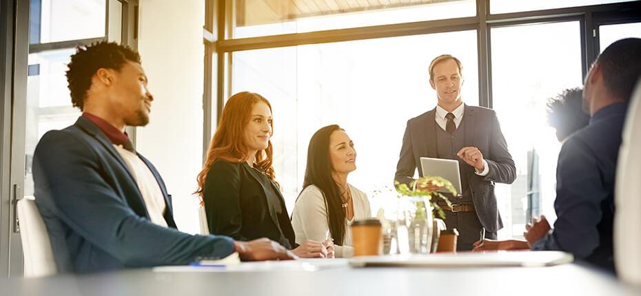 members in a meeting